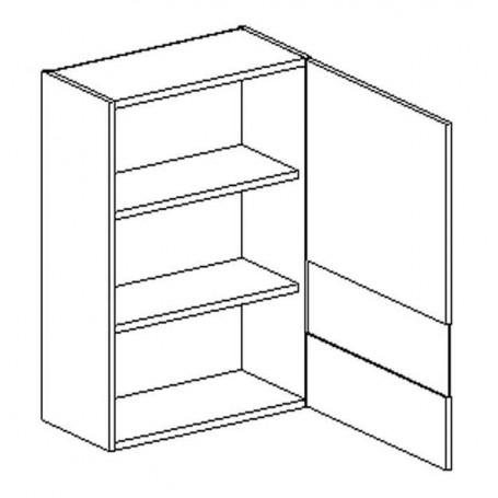 BONO väggskåp med hyllplan/vitrindör - 60x72 cm