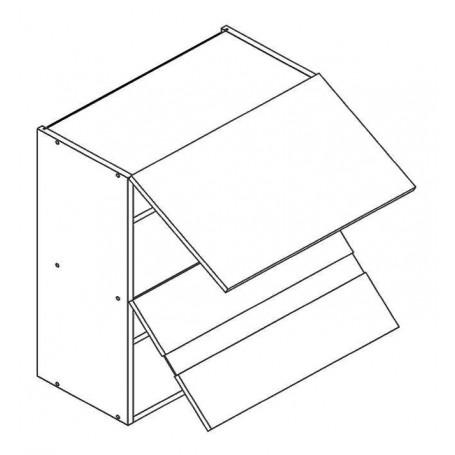 OSCAR väggskåp horisontalt med vitrindörr - 60x72 cm