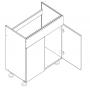 BLANKA bänkskåp för diskbänk - 80x82 cm