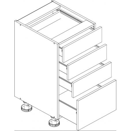 Lungo&Macchiato BIS bänkskåpmed 4 lådor - 40x82 cm