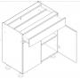 BLANKA bänkskåp med låda - 80x82 cm