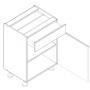 BLANKA bänkskåp med låda - 60x82 cm